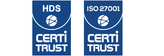 Logos de certification HDS et Iso 27001